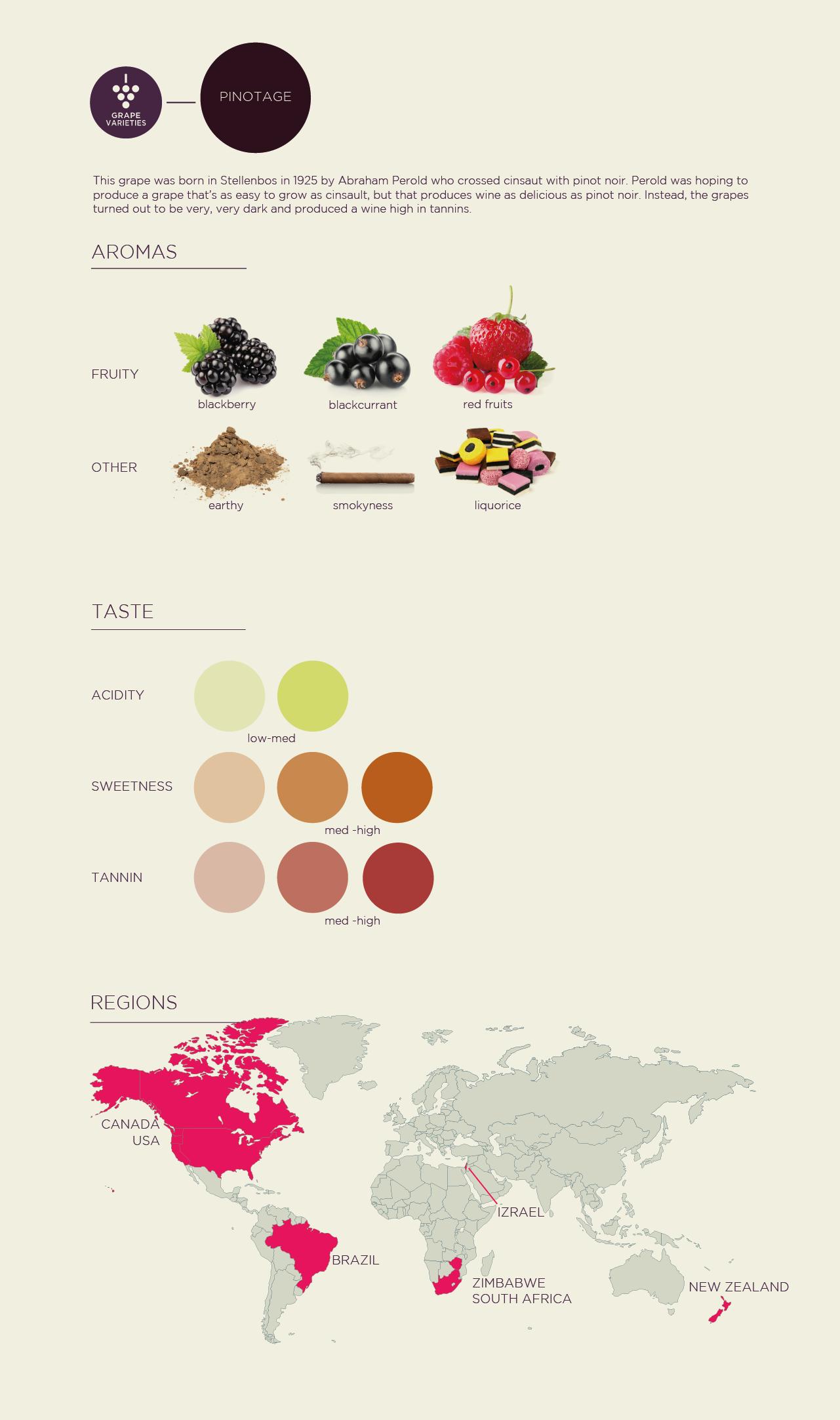 Pinotage grape poster